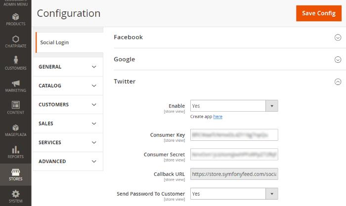 Configure Twitter