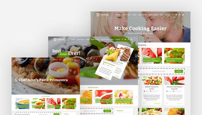 cooking blog theme