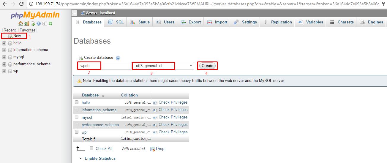 Creating Database