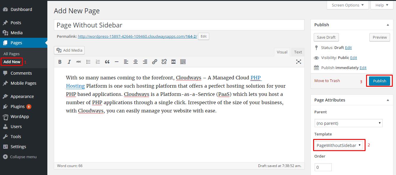 How To Create A Custom Wordpress Page Template