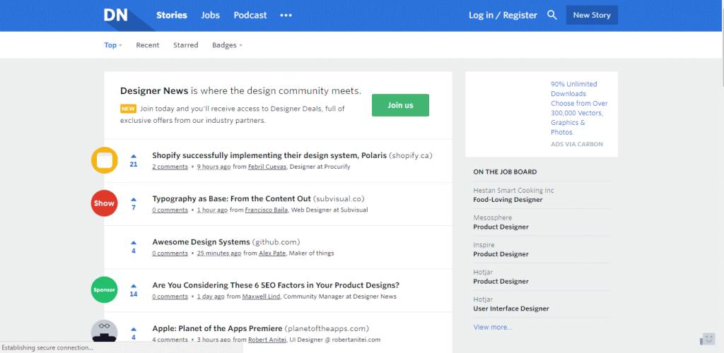 Designer News Community