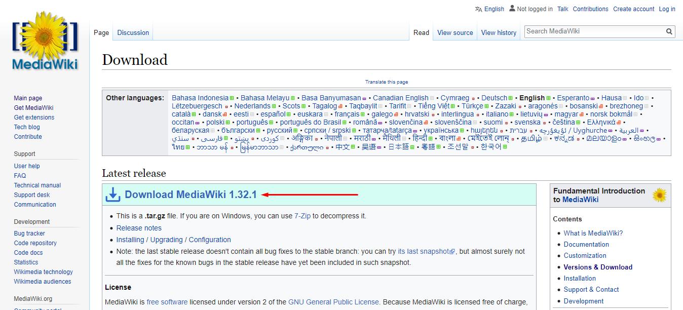 download mediawiki