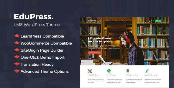 EduPress Responsive LMS University Education WordPress Theme