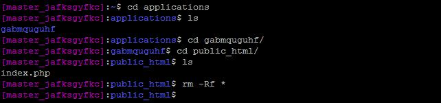 Empty Public-HTML Folder