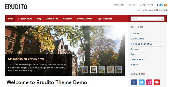 Erudito Education WordPress Theme