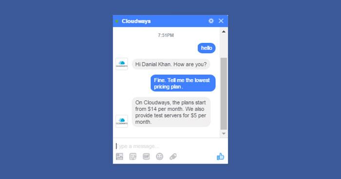 Facebook Messenger on Cloudways