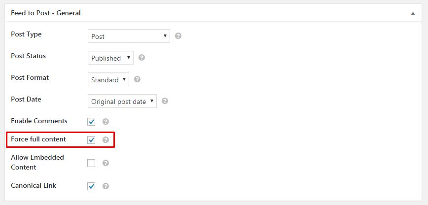 edit a feed