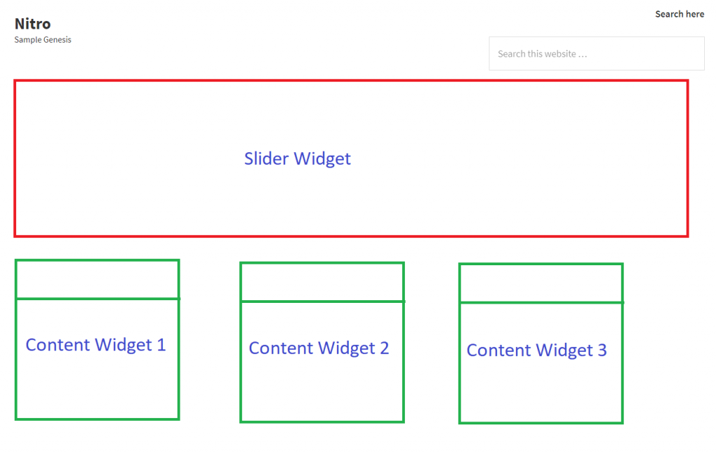 Genesis Custom Widget planning