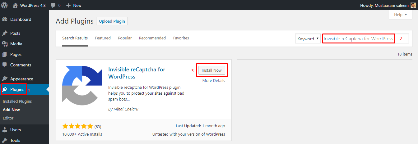 How to Add Google Invisible reCAPTCHA Plugin to WordPress