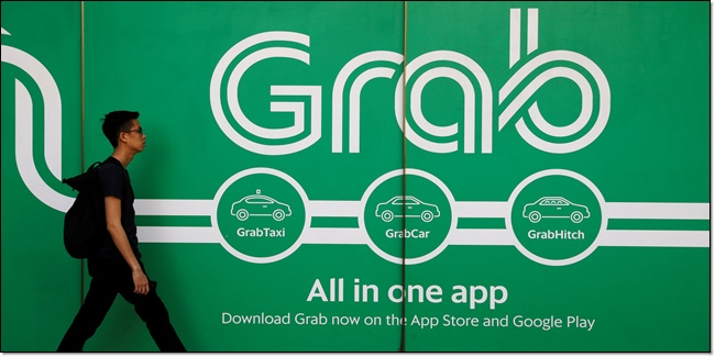 Grab travel and transport startup