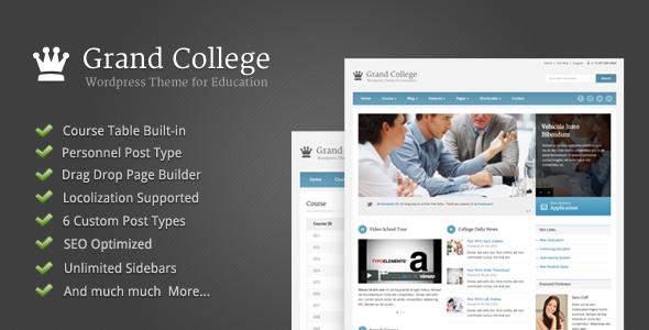 Grand College WordPress Theme For Education