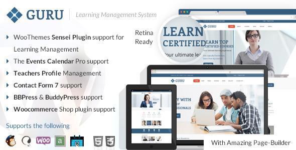Guru Learning Management WordPress Theme
