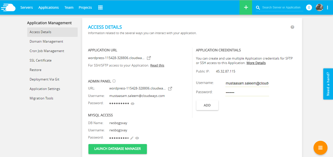 Have a Look at Installed WordPress Application