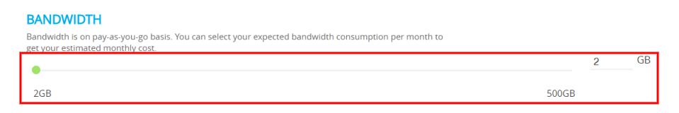 Host WordPress on AWS Bandwidth