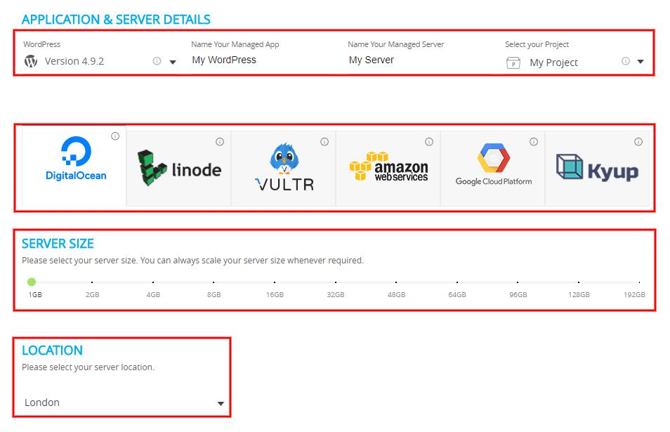 Host WordPress on DigitalOcean Application and Server Details