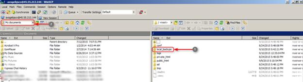 WinSCP client