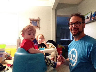 Adam Warner With Kids