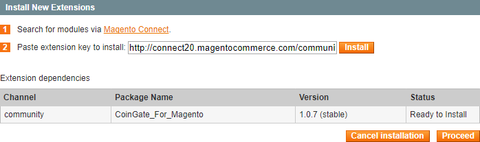 Magento Proceed