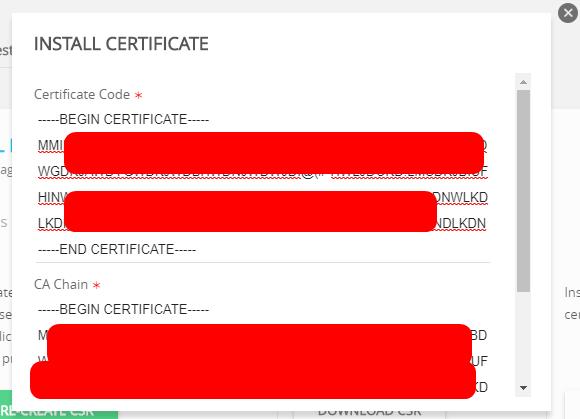 Install Custom SSL Certificate