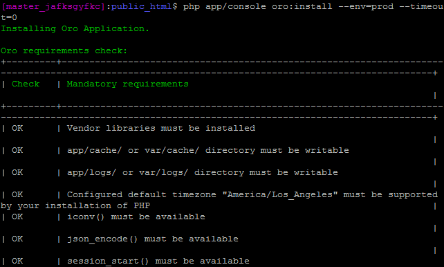 Install OroCommerce CLI