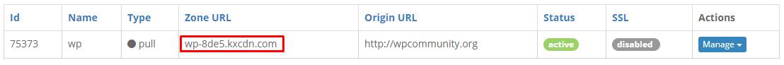 KeyCDN URL