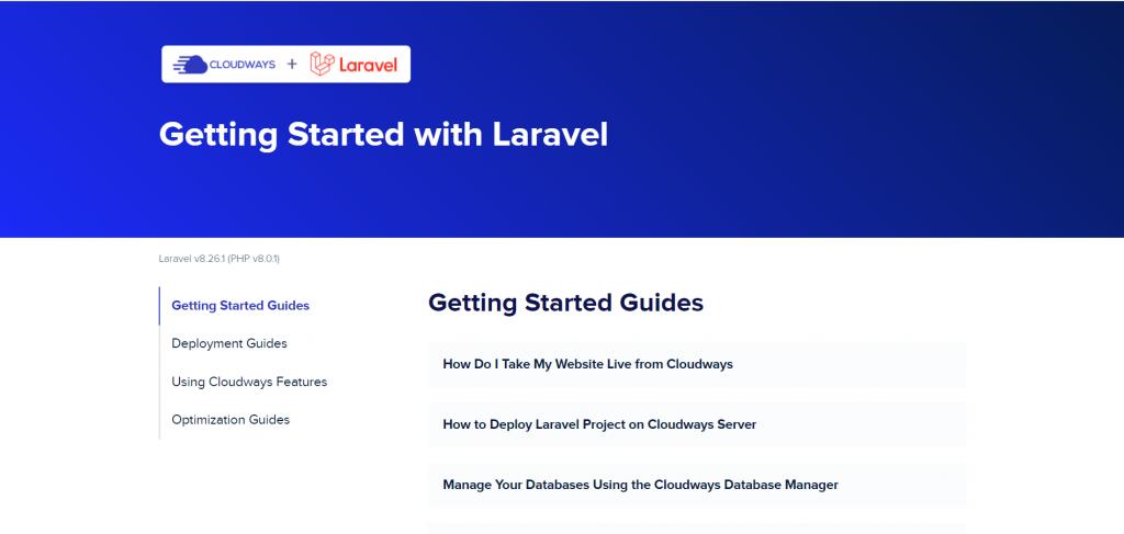 laravel welcome screen