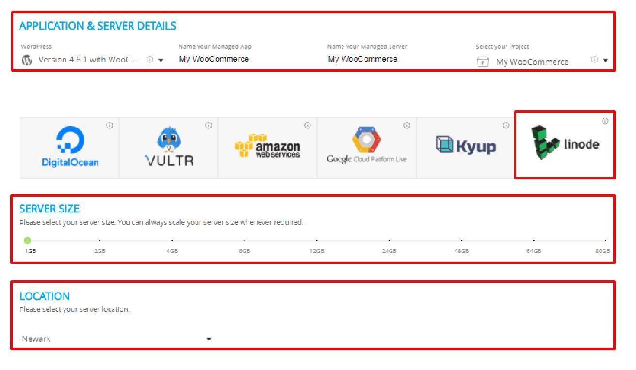 Linode on WooCommerce Server Details