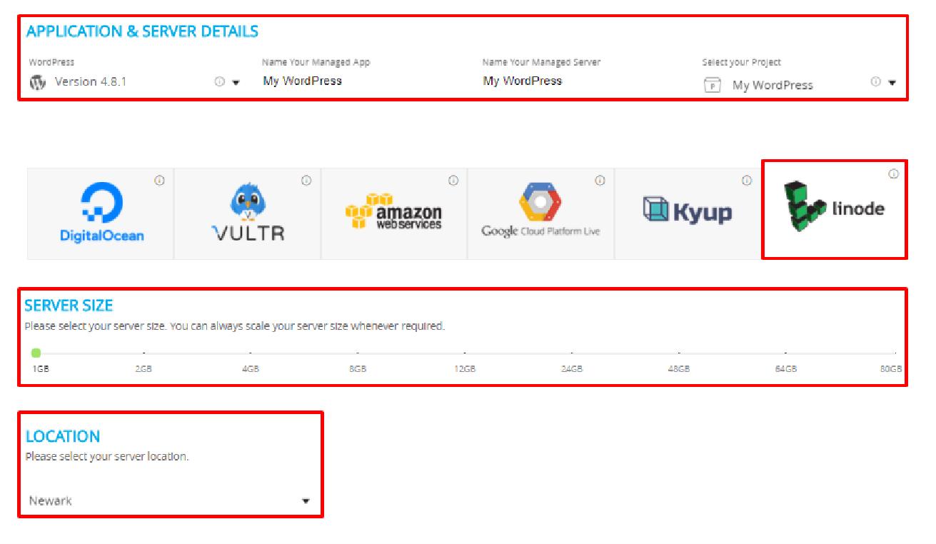 Linode on WordPress Server Details