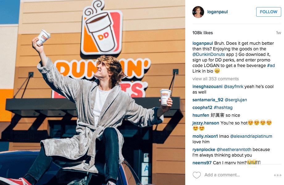 Logal Paul's Instagram Post