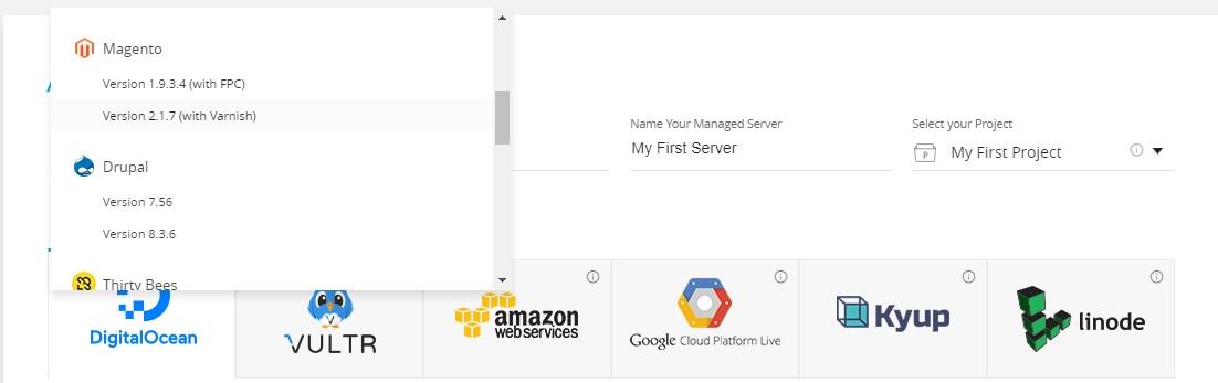 Select Application Cloudways
