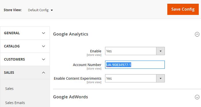 Magento 2 Google Analytics