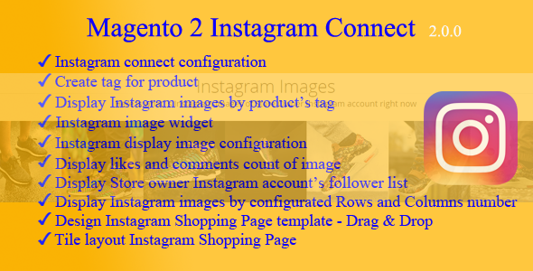 Magento 2 Instagram Connect Extension
