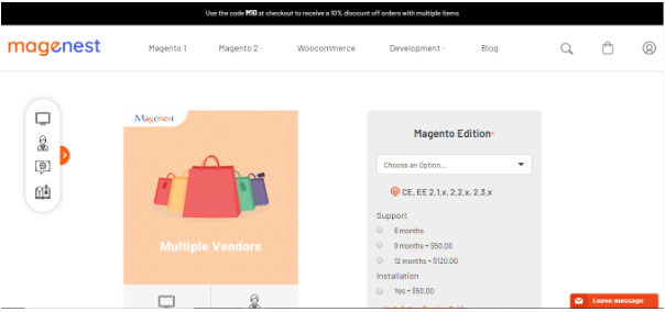 Magento 2 Multiple Vendors by Magenest