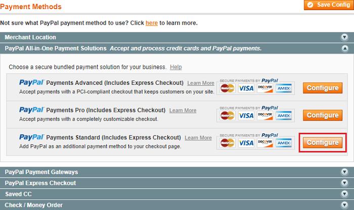 Magento Paypal Express