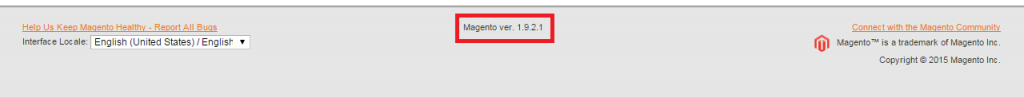 Magento footer