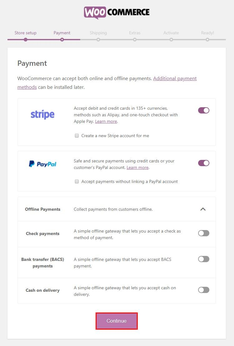 Configuring WooCommerce payments