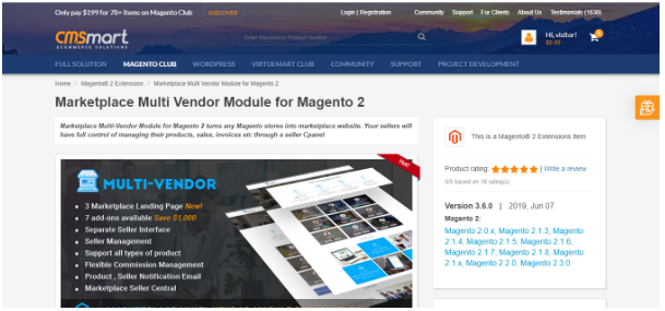 Marketplace Multi-Vendor Module for Magento 2 by Cmsmart