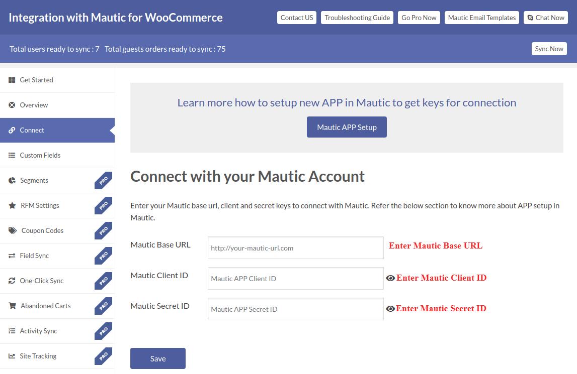 Mautic Authorization Process