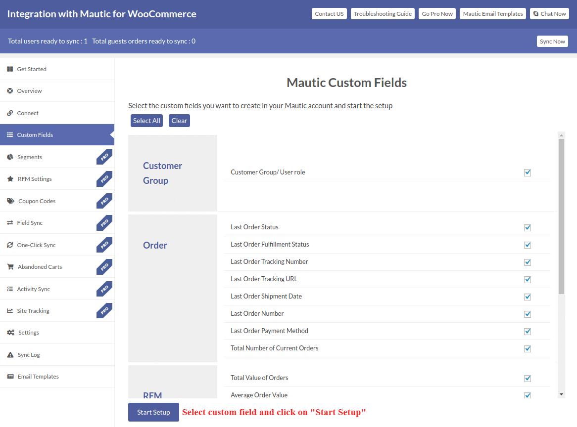 Mautic Custom Field