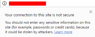not secure message