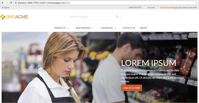 OroCommerce Homepage