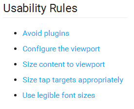 usability rules