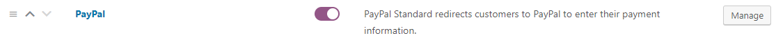 PayPal Manage Settings