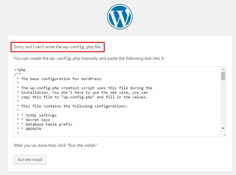 Permission Error on WordPress