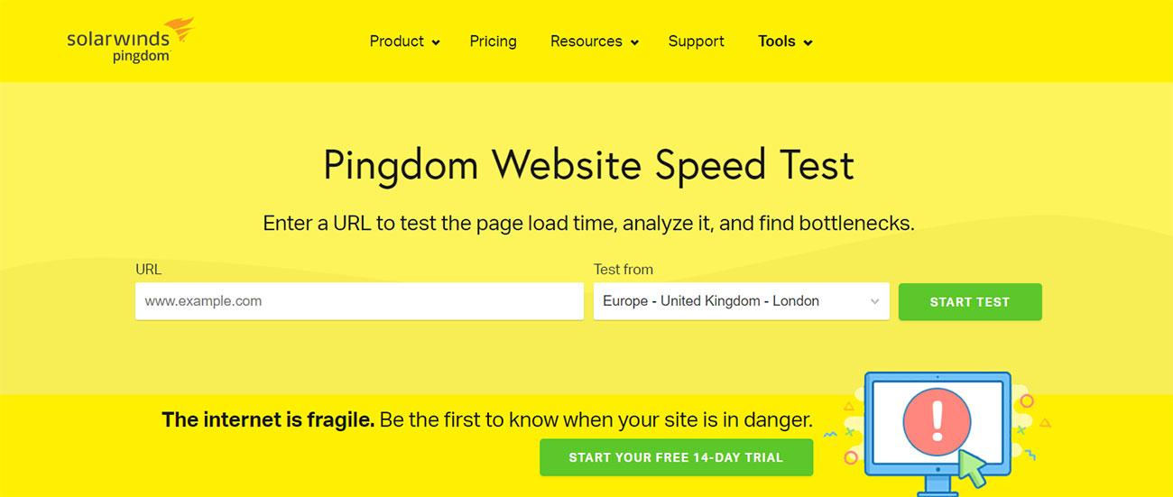 Pindgom-Website-speed-test-tool