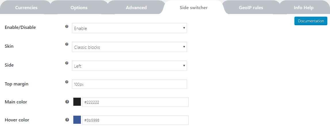 Plugins-options