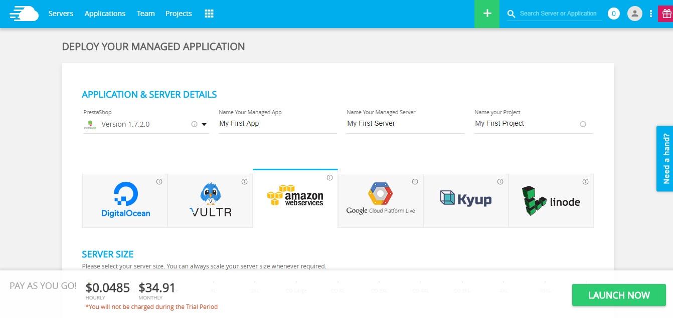 Install PrestaShop on Amazon Web Services Using Cloudways