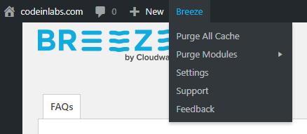 Purge Breeze on WPMU