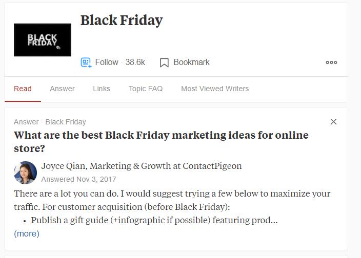 QnA deals for Black Friday