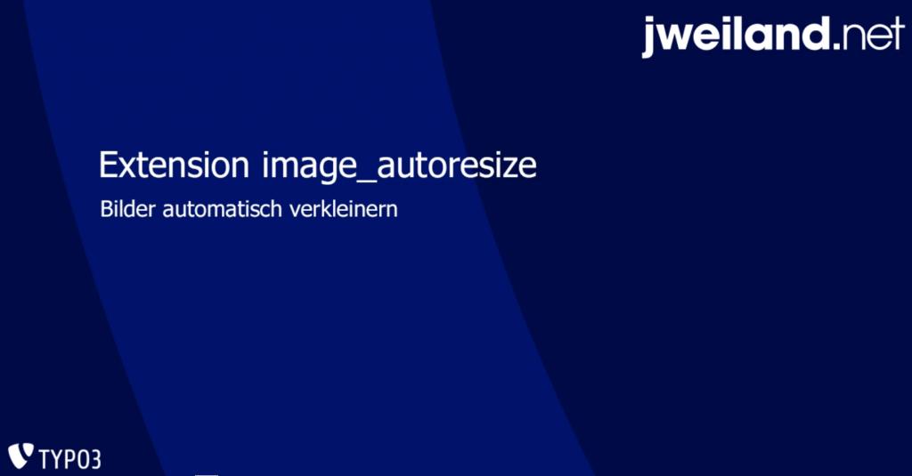 Resize images automatically